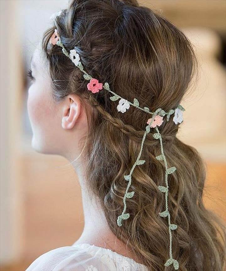 Floral DIY Crochet Headband