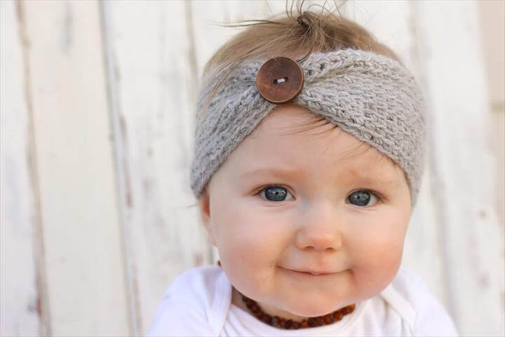 crochet headband pattern with button