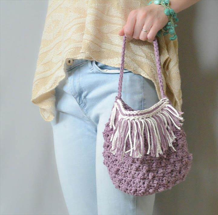 Festival Fringed Crochet Purse Pattern