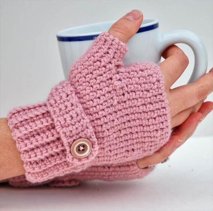 Crochet Gloves Pattern and Fingerless