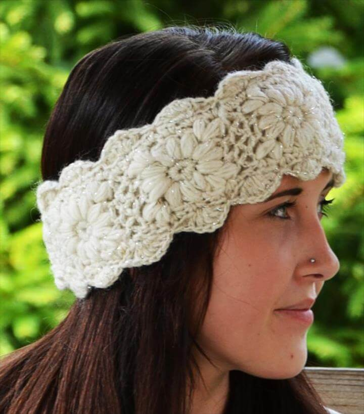 sparkle crochet headband