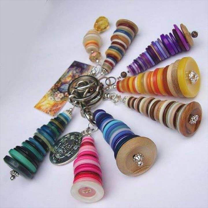 Key Rings with Buttons