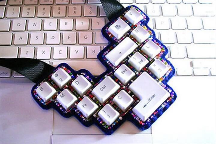 Jewelry Projects Recycled Jewelry Jewelry Bracelet Keyboard Buttons