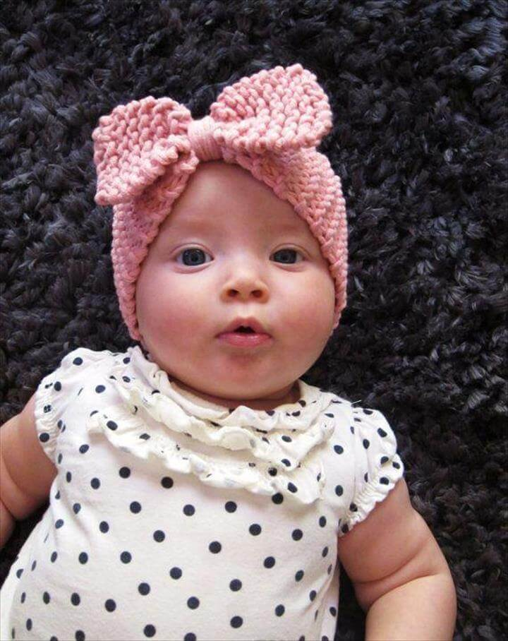 Kids girls crochet bow headbands Baby girl crochet bowknot headwrap Children's Princess Fashion hai