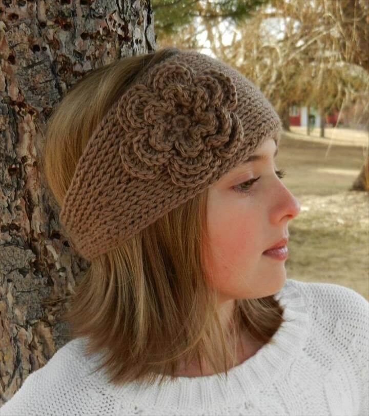Knitted Headband Patterns With Flower : 32 Crochet Headband Design & Ideas DIY to Make