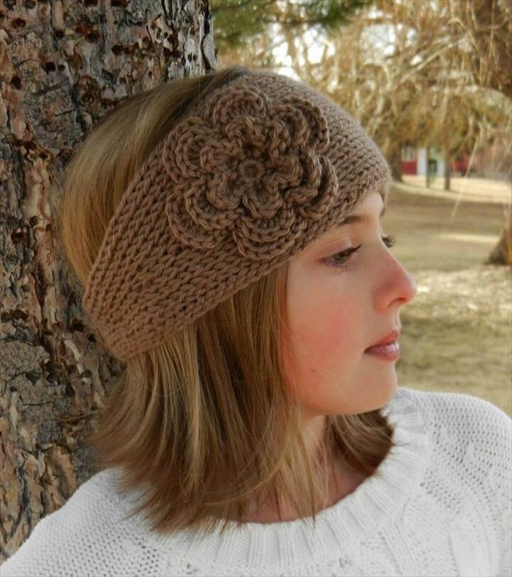 """Knit-Look"" Crochet Headband"