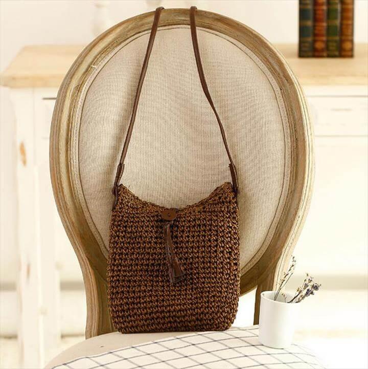 nice handmade crochet tote bag