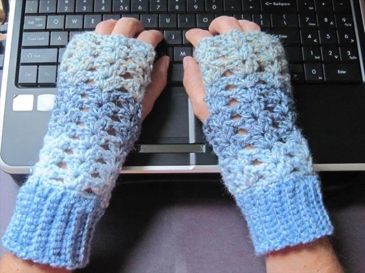 Lacey Crochet Fingerless Gloves