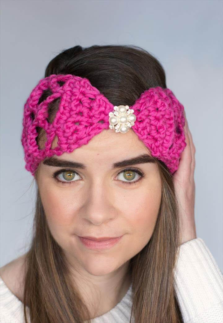 Lacy Lattice Headband Crochet Pattern