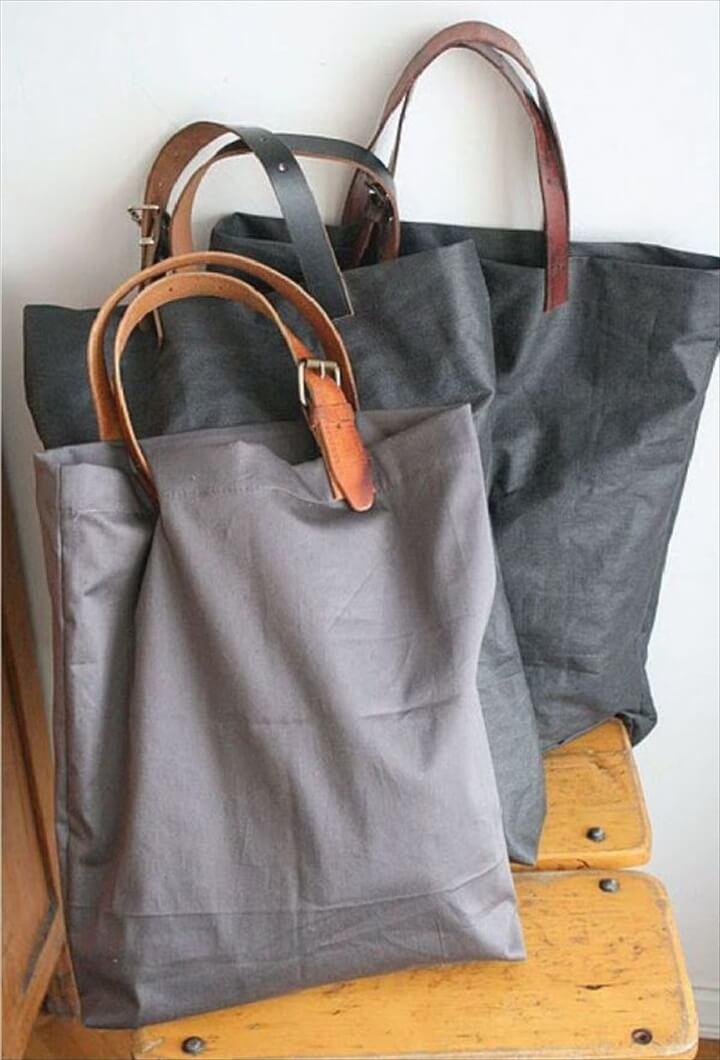 DIY Leather Handle Box