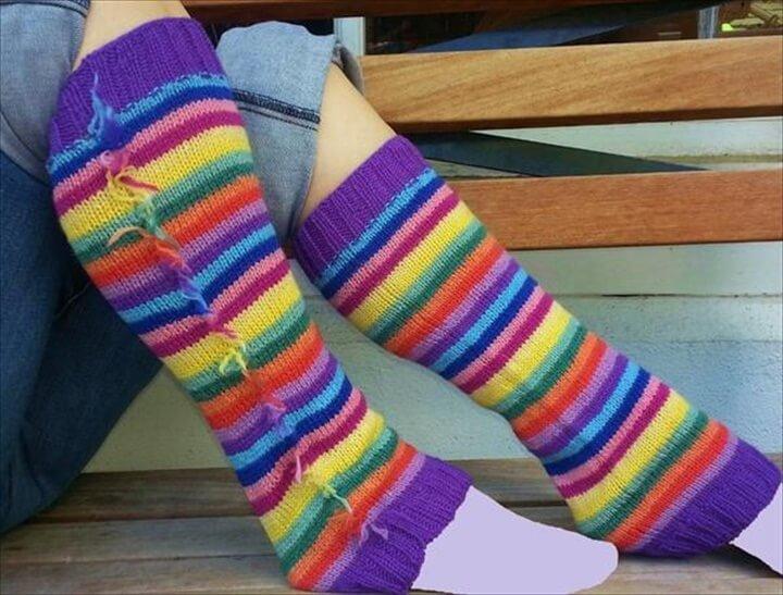 DIY Life Saver Leg Warmer