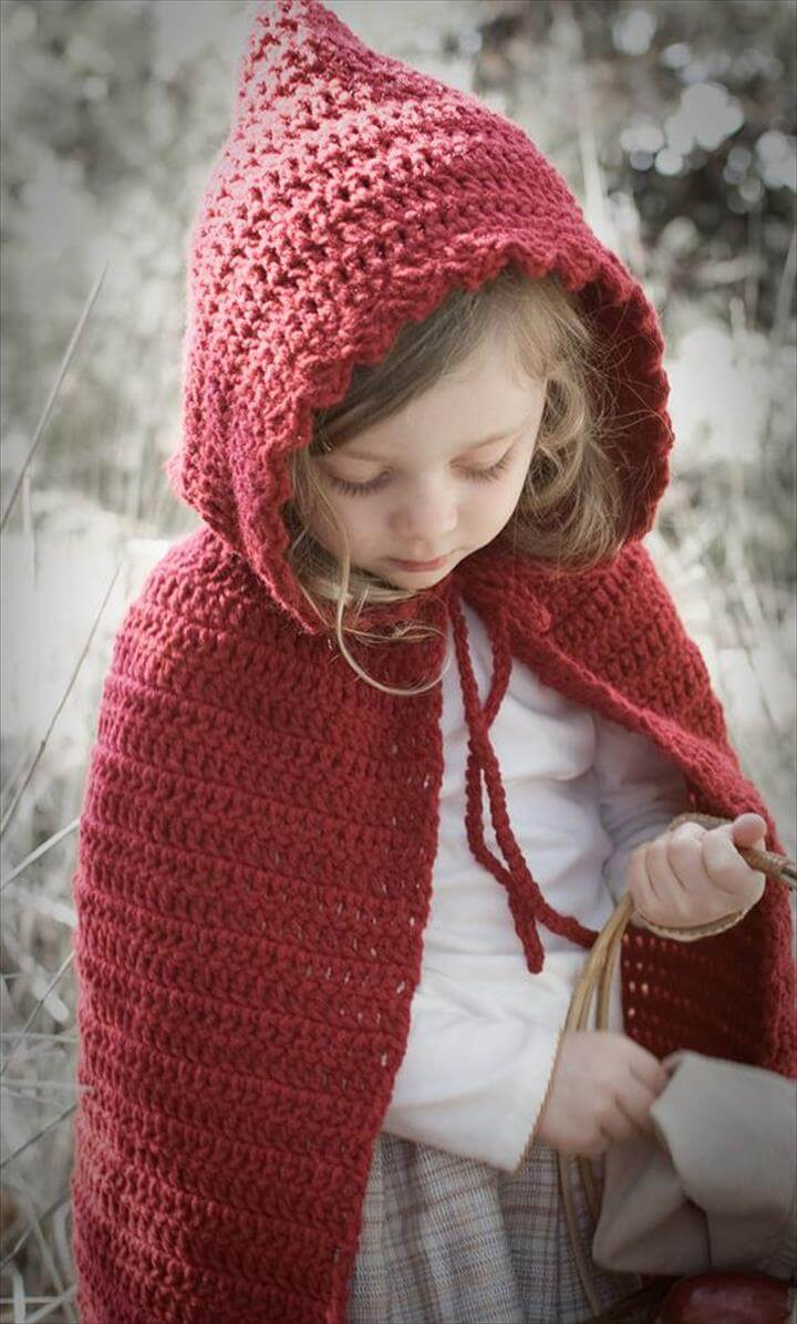 16 DIY Ideas About Crochet Hooded Cap & Shawl | DIY to Make