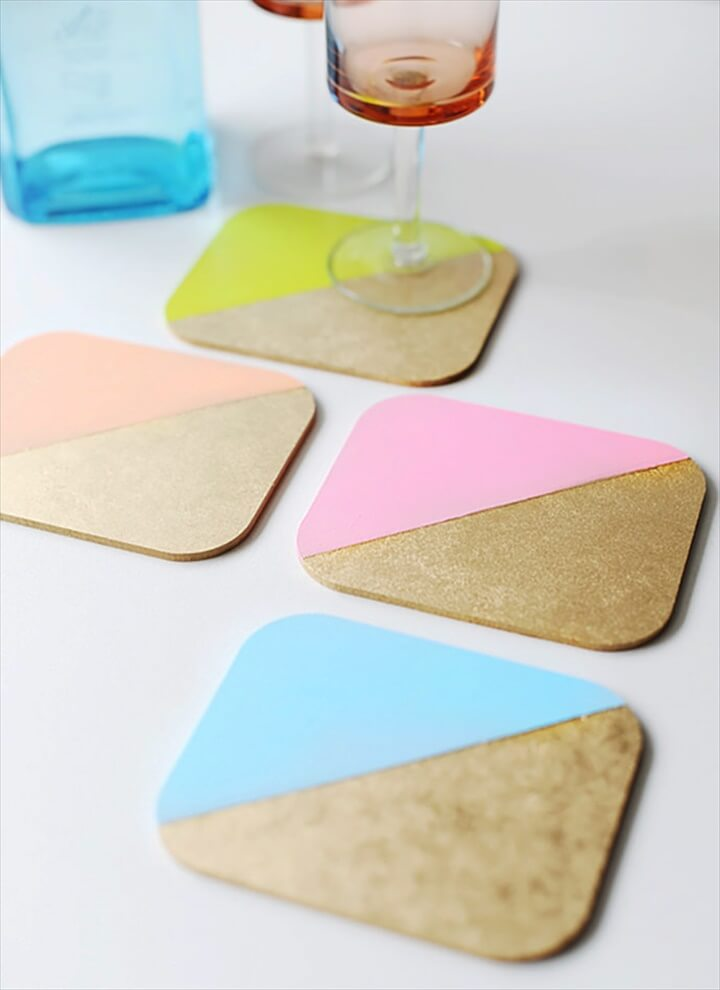 DIY Colorblock Coasters