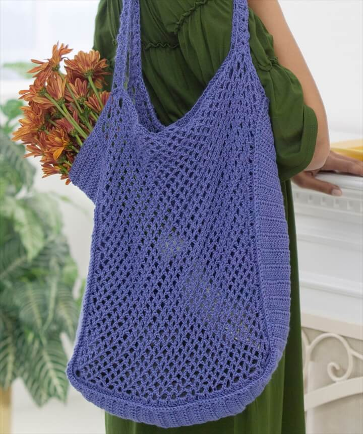 Free Crochet Patterns For Grocery Bags : 30 Easy Crochet Tote Bag Patterns DIY to Make