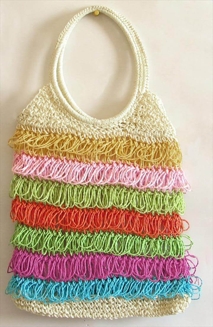 Fringe Tote Bag, Latest collection of of crochet bags