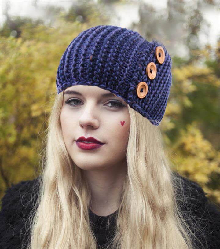 New Winter Bohemian Button Women's Knitted Headwrap Knit wool crochet headband ear warmers for Girls