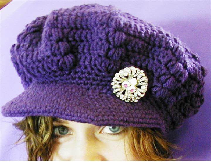 Free Crochet Pattern Beanie With Brim : 45 Super DIY Crochet Brimmed Beanie Hat Design DIY to Make