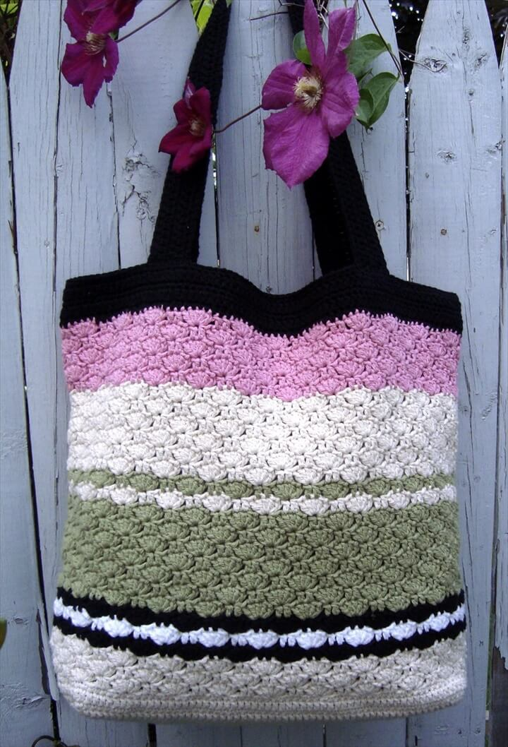 simple and easy crochet tote bag