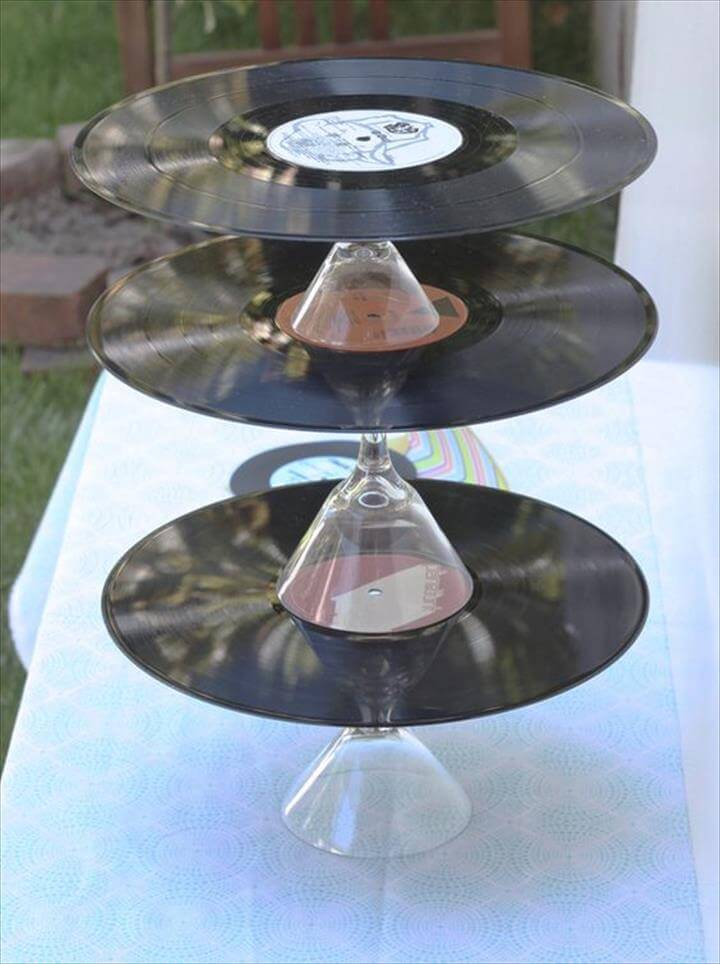 crafts for old vinyl records