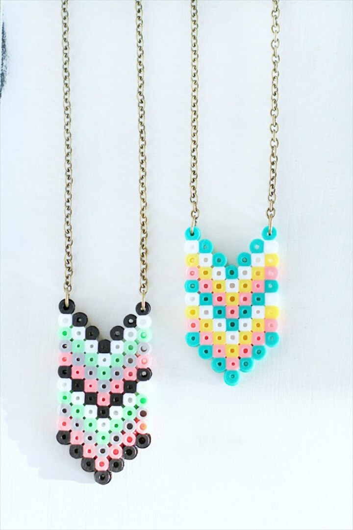 DIY Perler Bead Necklaces