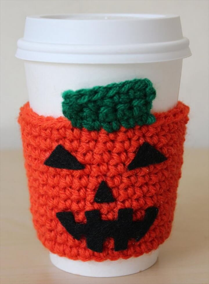 Halloween Crochet Coffee Cozy