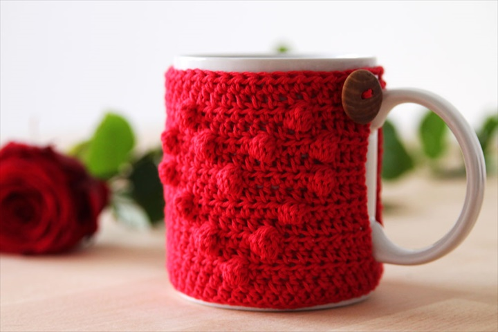 heart crochet mug warmer