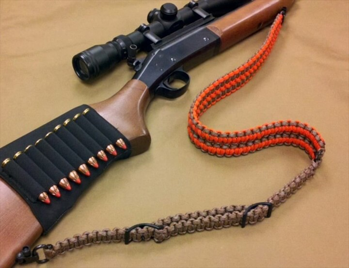 Rifle sling made from paracord