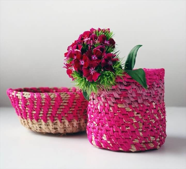 Coiled Raffia Basket DIY:
