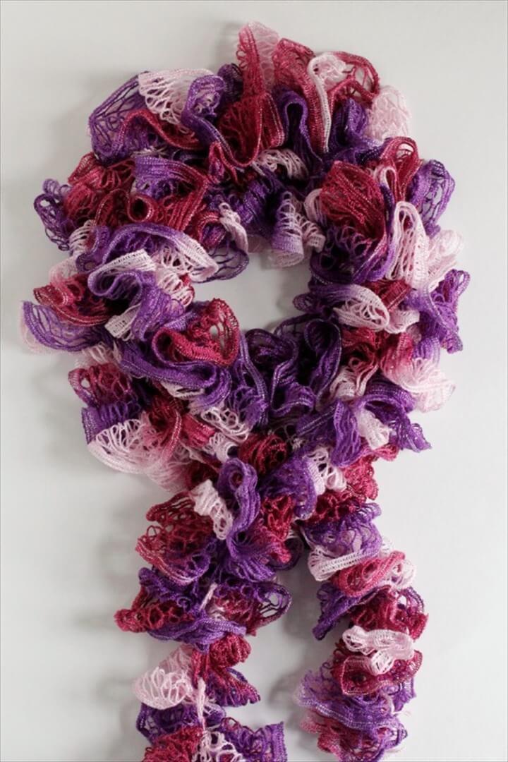 Ruffle Crochet Scarf Pattern
