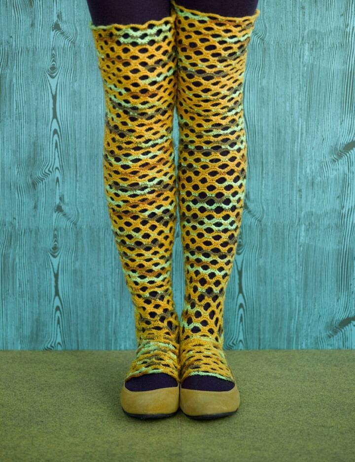 Scallop Crochet Leg Warmers