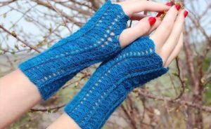 Crochet Openwork Hand Warmers