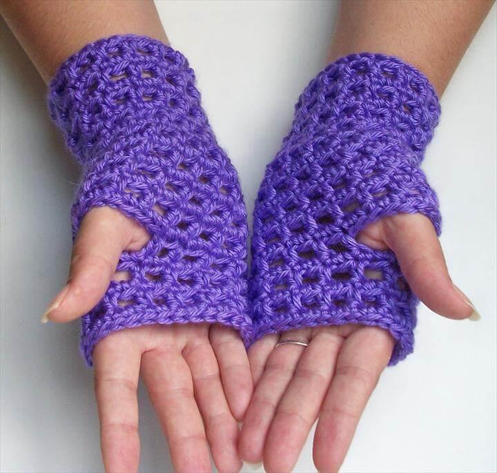 amazing and adorable crochet fingerless gloves
