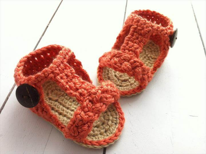 Baby Girl Crochet Gladiator Sandals