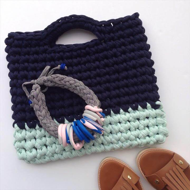 The Small One Crochet Tote Bag