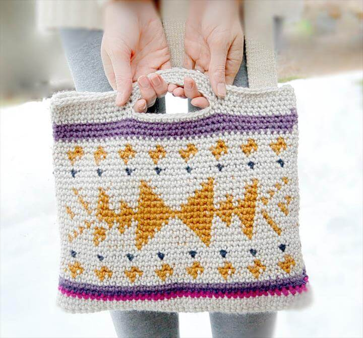 Southwest Tribal Tapestry Crochet Bag Pattern