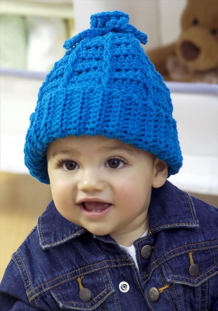Stretchy Crochet Kid Hat
