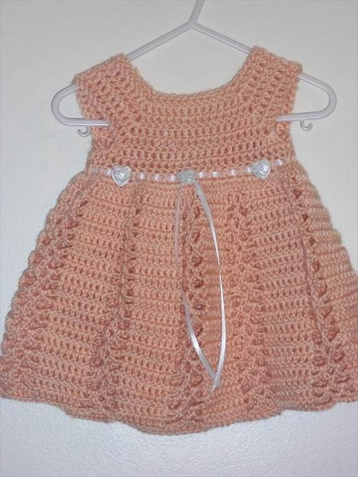 crochet dress with ribon