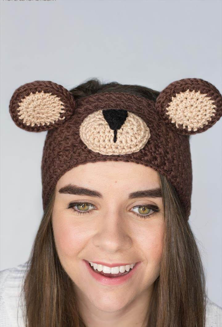 Teddy Bear Headband Crochet Pattern
