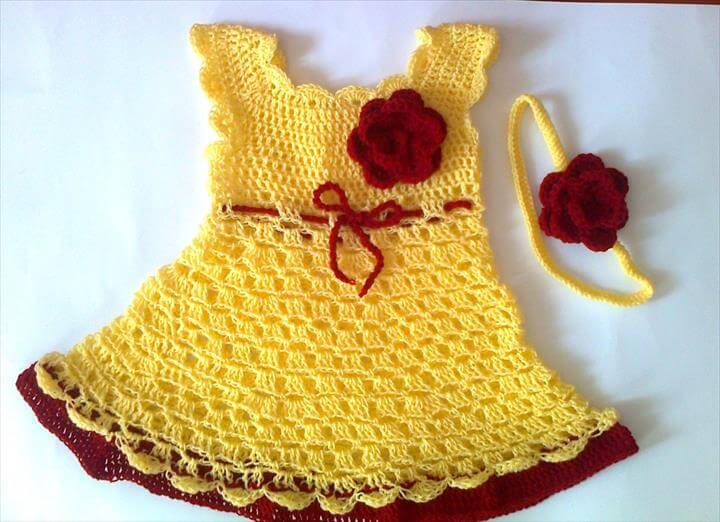 nice two colors crochet dress