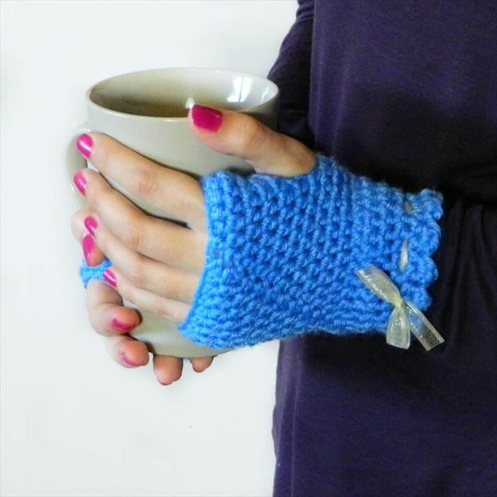48 Marvelous Crochet Fingerless Gloves Pattern