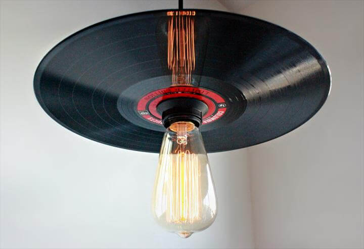 Vinyl Record Pendant Light Rock