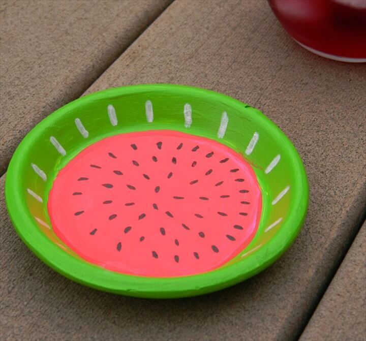 Another easy-peasy and fruit-inspired coaster tutorial! This crafty project from Kittenhood not only looks amazing but is super simple and fun to create too. Perfect for sitting underneath your summer drinks by the pool!