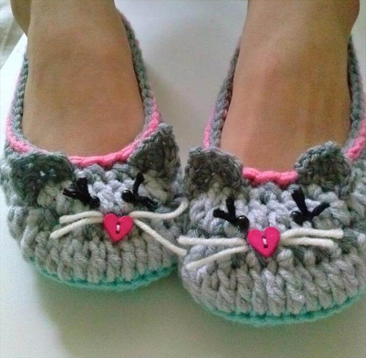 Women's Kitty Cat Slippers