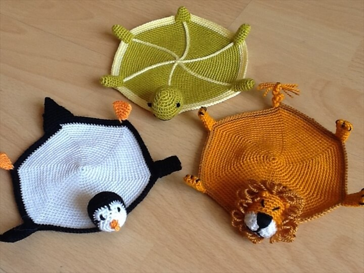 Animal Knitting Coasters