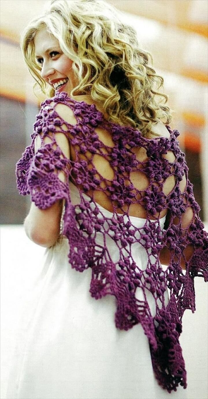 Good looking crochet shawl