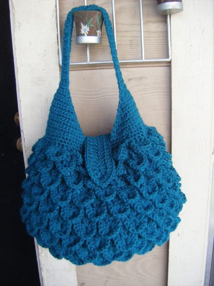 Crochet Patterns For Tote Bags : Large Crochet Teddy Bear Tote Bag & Purse:
