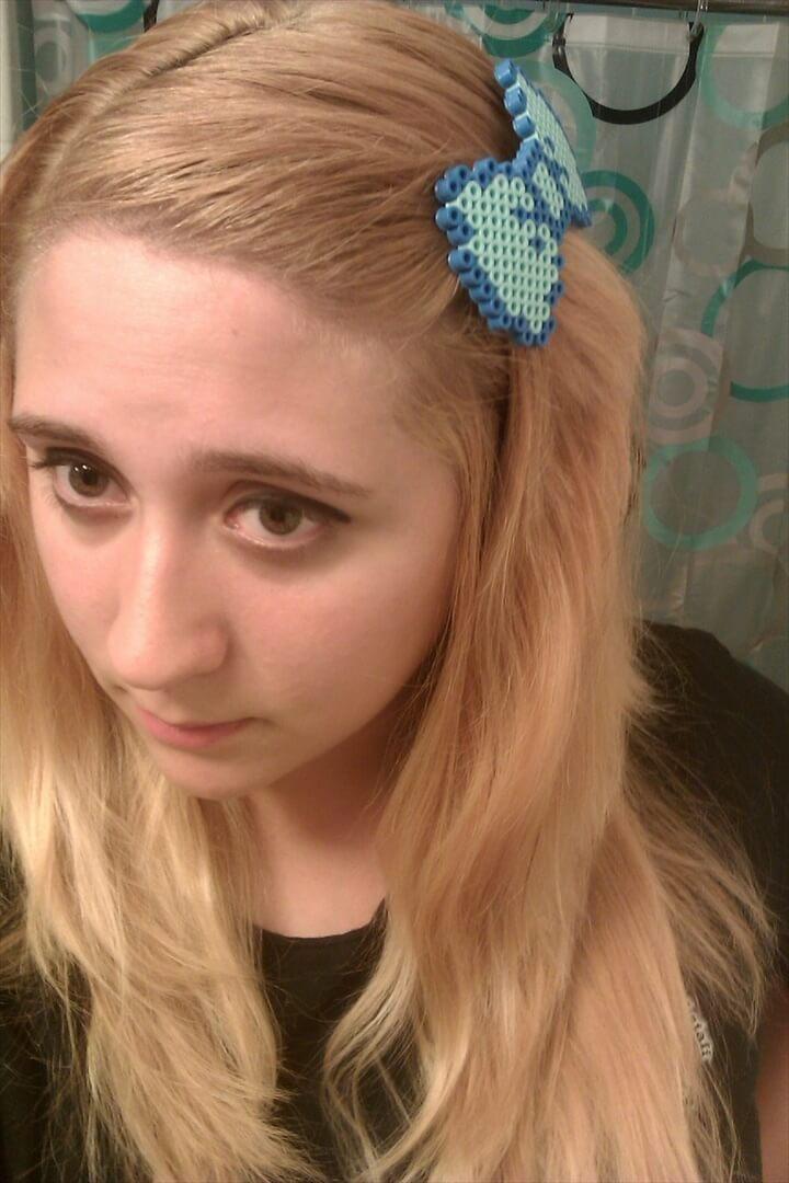 Blue Perler Bow
