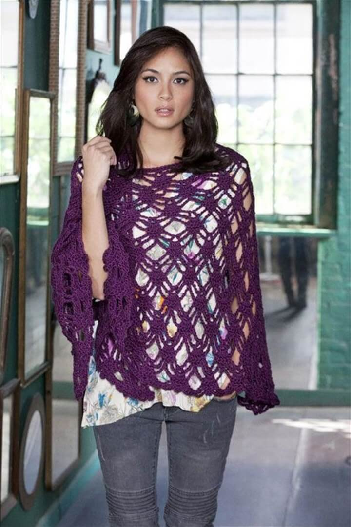 DIY: Bohemian Crochet Shawl Pattern