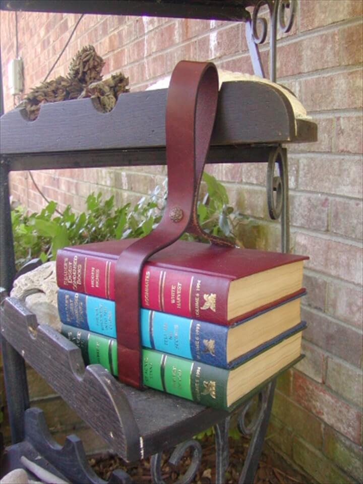 DIY Book Purse With Leather Belt Hanger