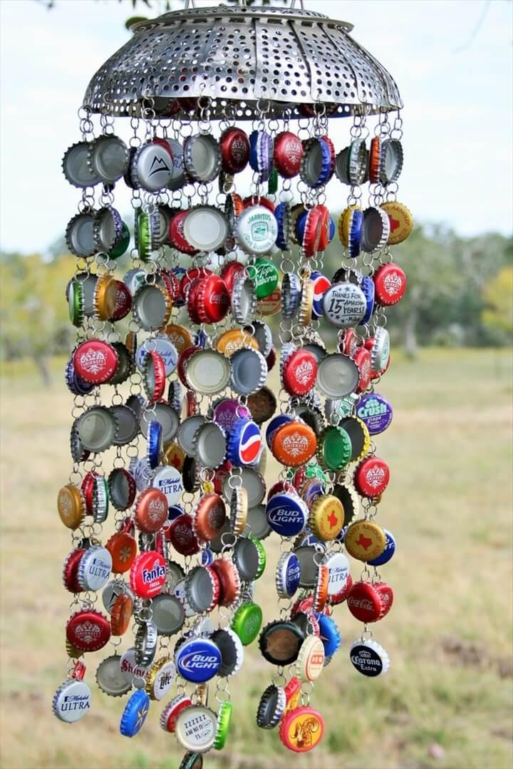 Bottle Cap Wind Chime